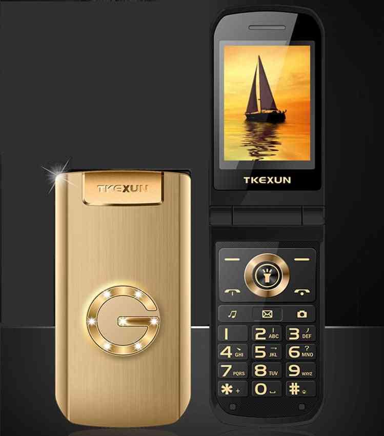 Flip Metal Senior Phone Tkexun Big Keyboard/ Sound