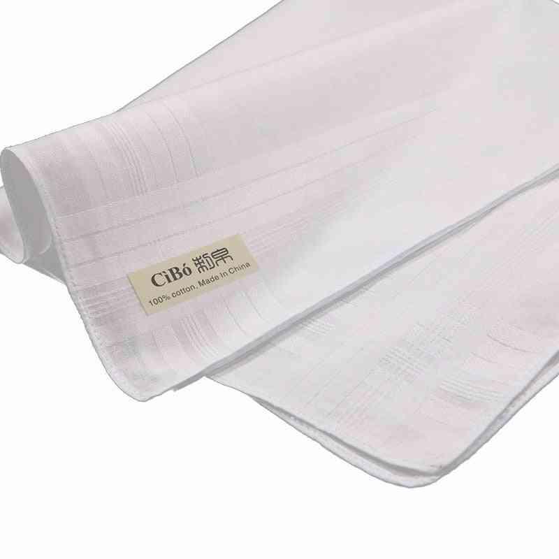 Cotton Satin Banded Handkerchiefs
