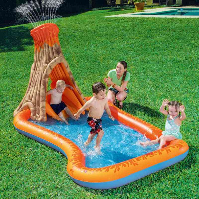 Outdoor Park Water Slide Inflatable Pool With Slide's Pool Swimming Inflatable Sliding Board