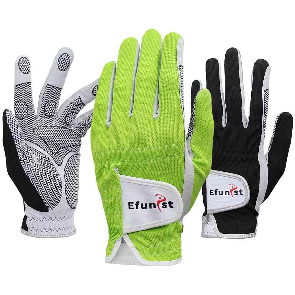 Men 3d Performance Mesh Non-slip Micro Fiber Golf Glove