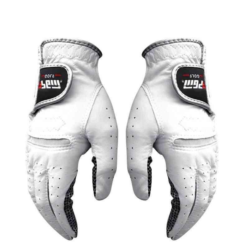 Men's Left Right Hand Soft Breathable Pure Sheepskin With Anti-slip Granules Golf Gloves
