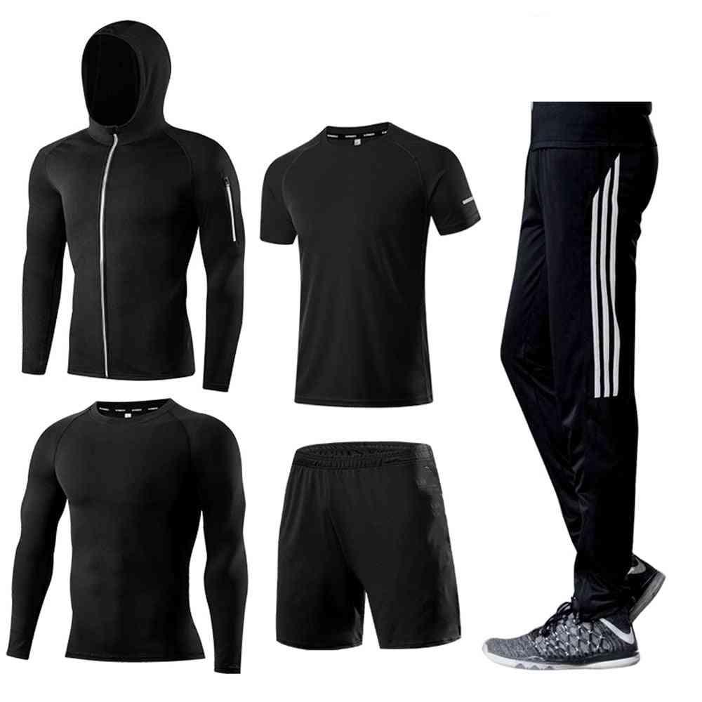 Men's Running Set, Compression T-shirt+pants