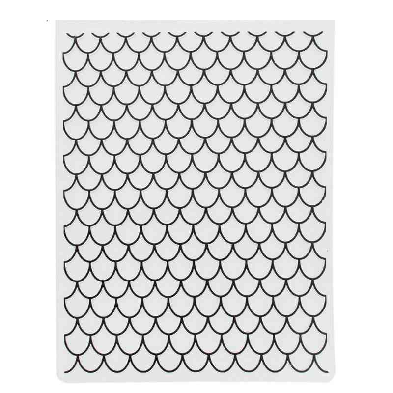 Fish Scales Plastic Embossing Folders Paper Cards