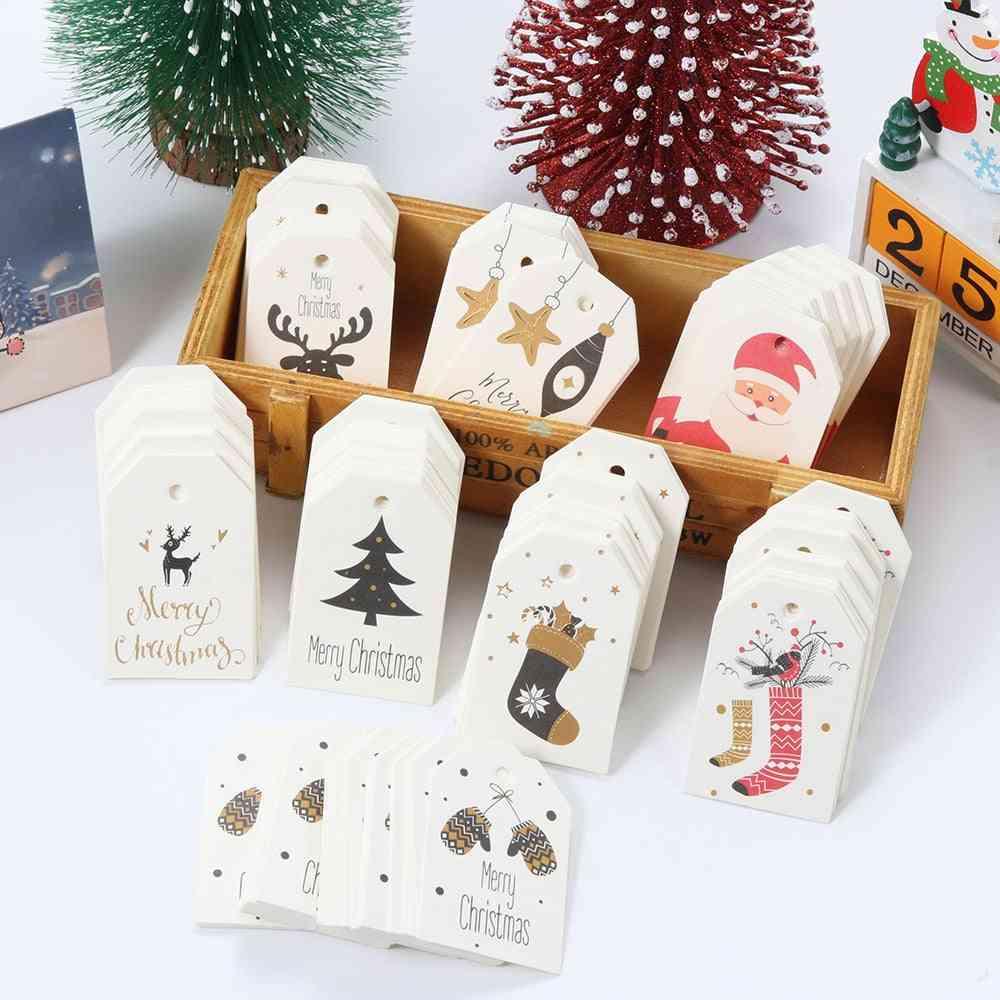 Merry Christmas Diy Kraft Tags