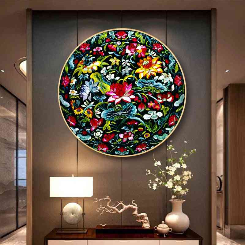 Embroidery Diy Chinese Style Patterns Printed Kits Cross Stitch Thread