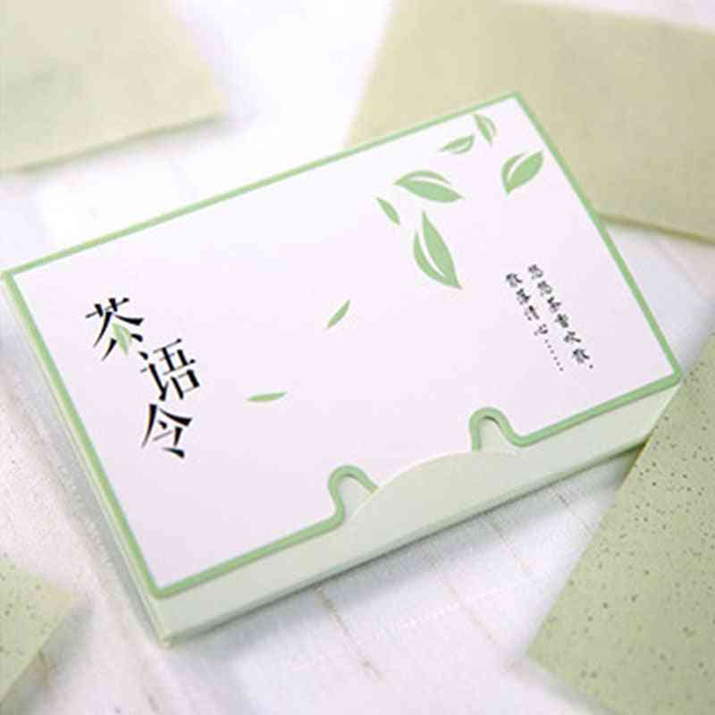 Green Tea Smell Makeup Cleansing Oil Absorbing Face Paper