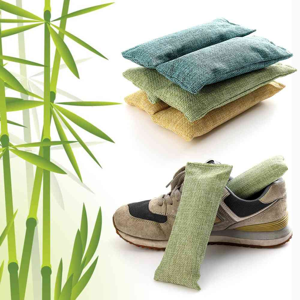 Bamboo Charcoal Bag Smelly Removing Activated Carbon Closets Shoe Deodorant Deodorize Desiccant Absorber For Household