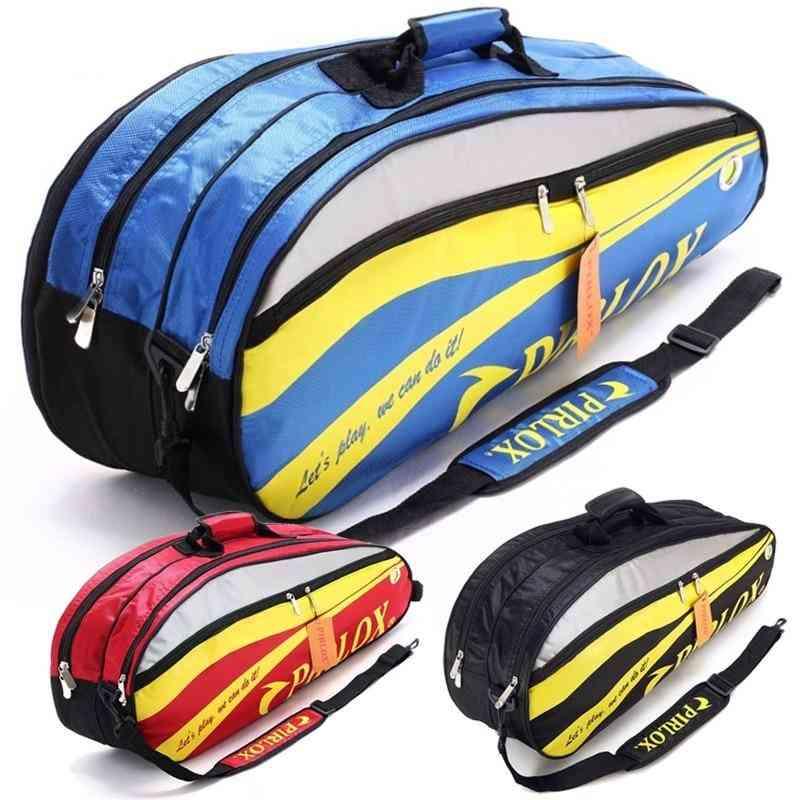 Double-deck Badminton Large Tennis Racket Sports Bag