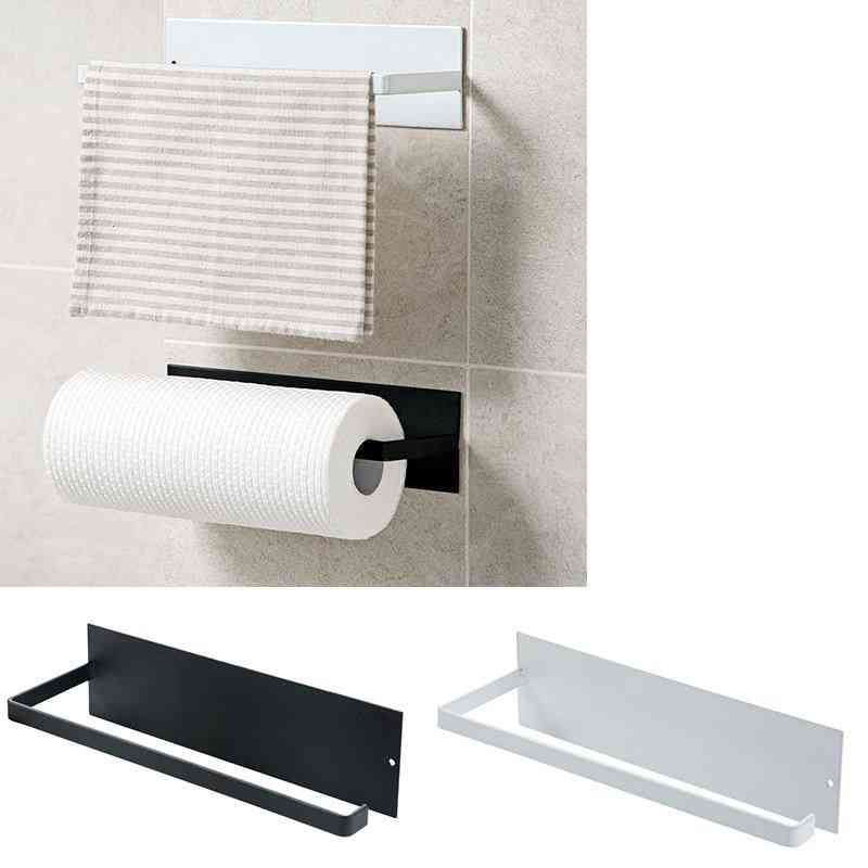 Cabinet Paper Roll Rack, Towel Holder Tissue Hanger Storage Rack Bathroom