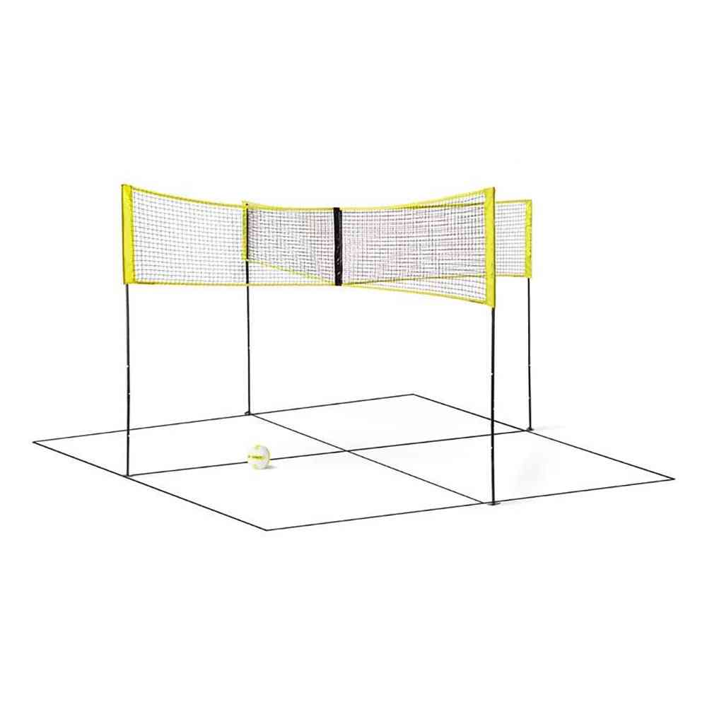 Portable Four Square Volleyball Net, Sports Training Net
