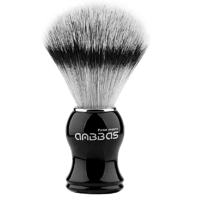 Synthetic Badger Shaving Brush, Durable Resin Handle Travel Brush