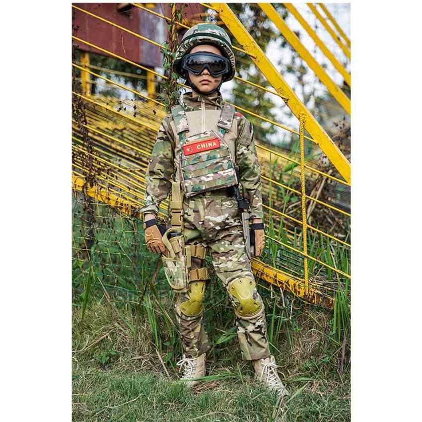 Boys Military Uniform, Combat Jacket Pants For Men