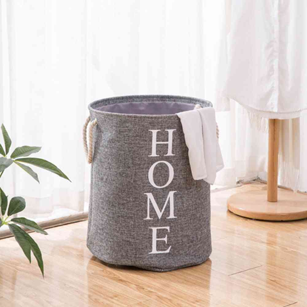 Clothing Laundry Basket Bag, Waterproof Storage Bucket