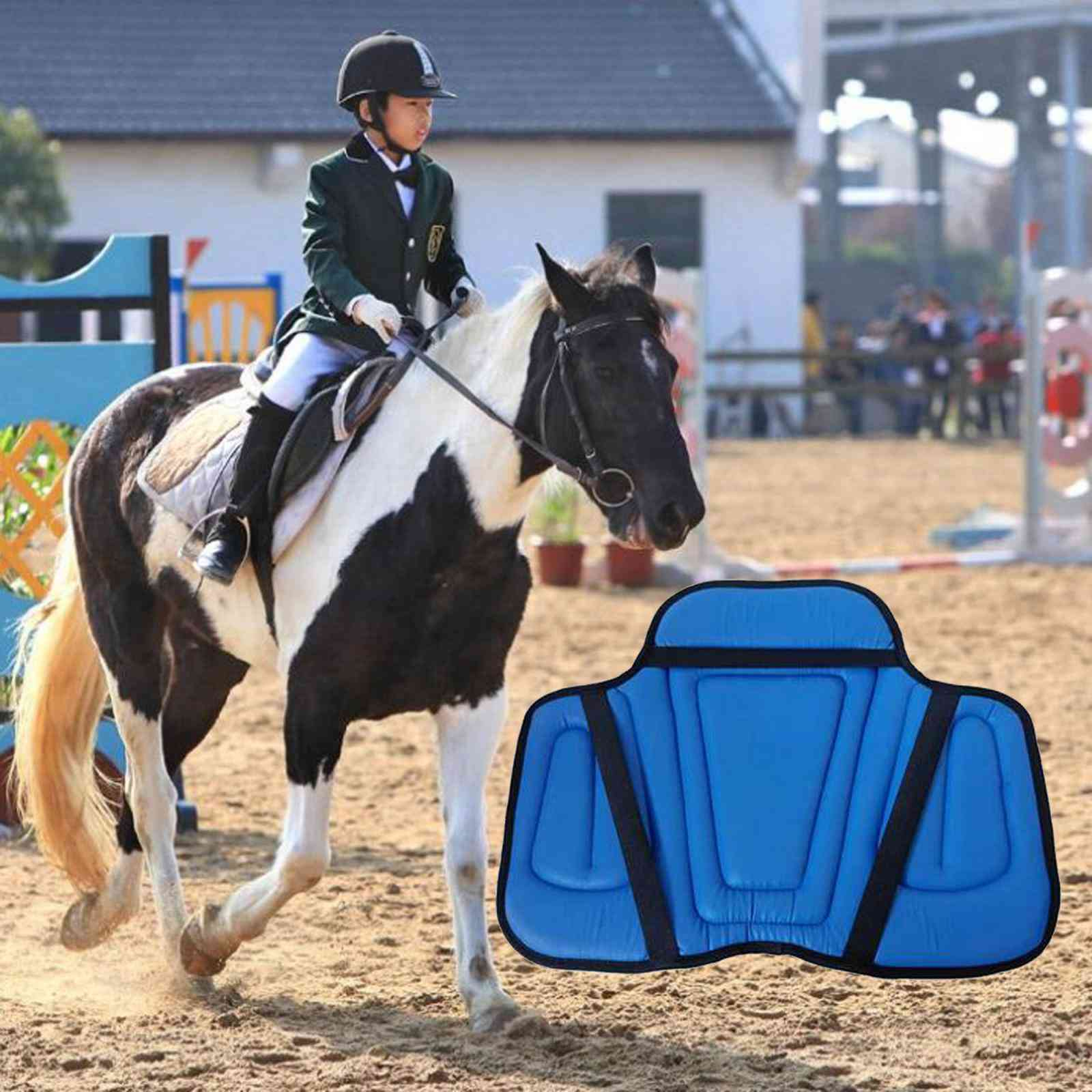 Equestrian Riding Saddle Pad Shock Absorption Seat Cushion Wear-resistant