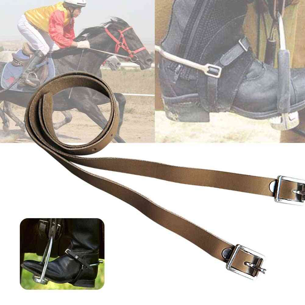 Durable Pu Leather Spur Straps Protective Accessories