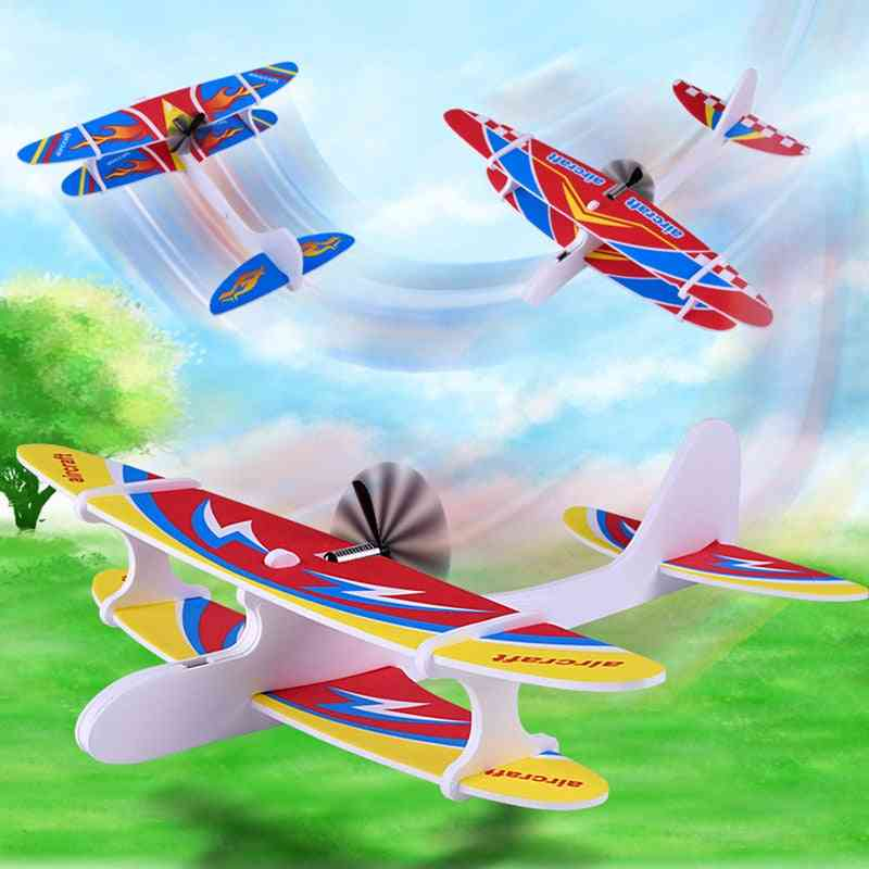 Airplane Hand Throwing Glider Capacitor, Electric Aircraft, Foam Inertial Plane Model Relieve, Kids