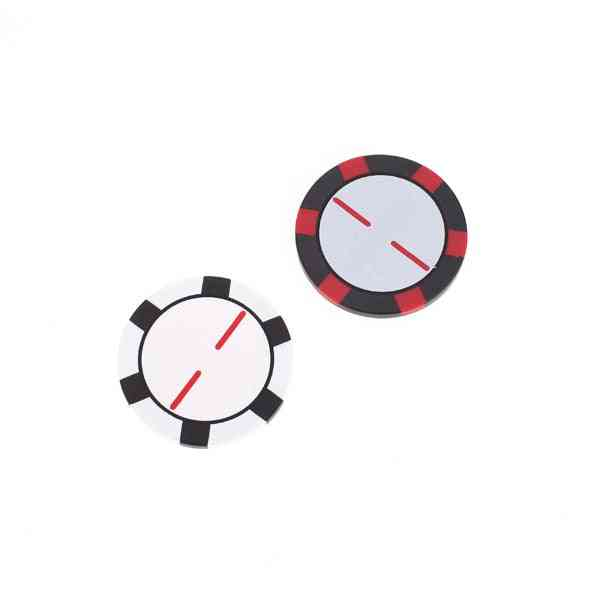 Poker Chip Golf Ball Markers, Great Fathers Day Or Birthday Gift Plastic