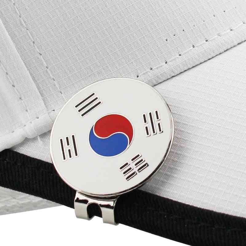 Flag Golf Marker, W Magnetic Cap Clip, Ball Mark, Alloy Professional