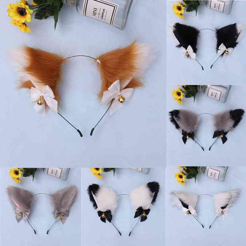 Cute Fox Cat Ears Plush Headband