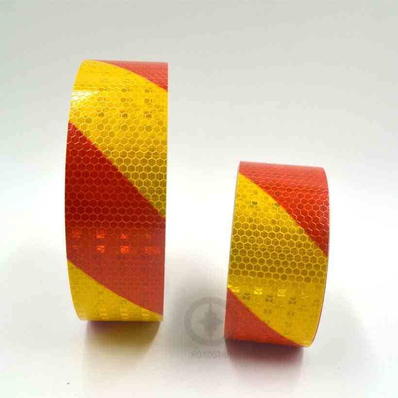 Dual Color Safety Self Adhesive Warning Tape With Twill Printing
