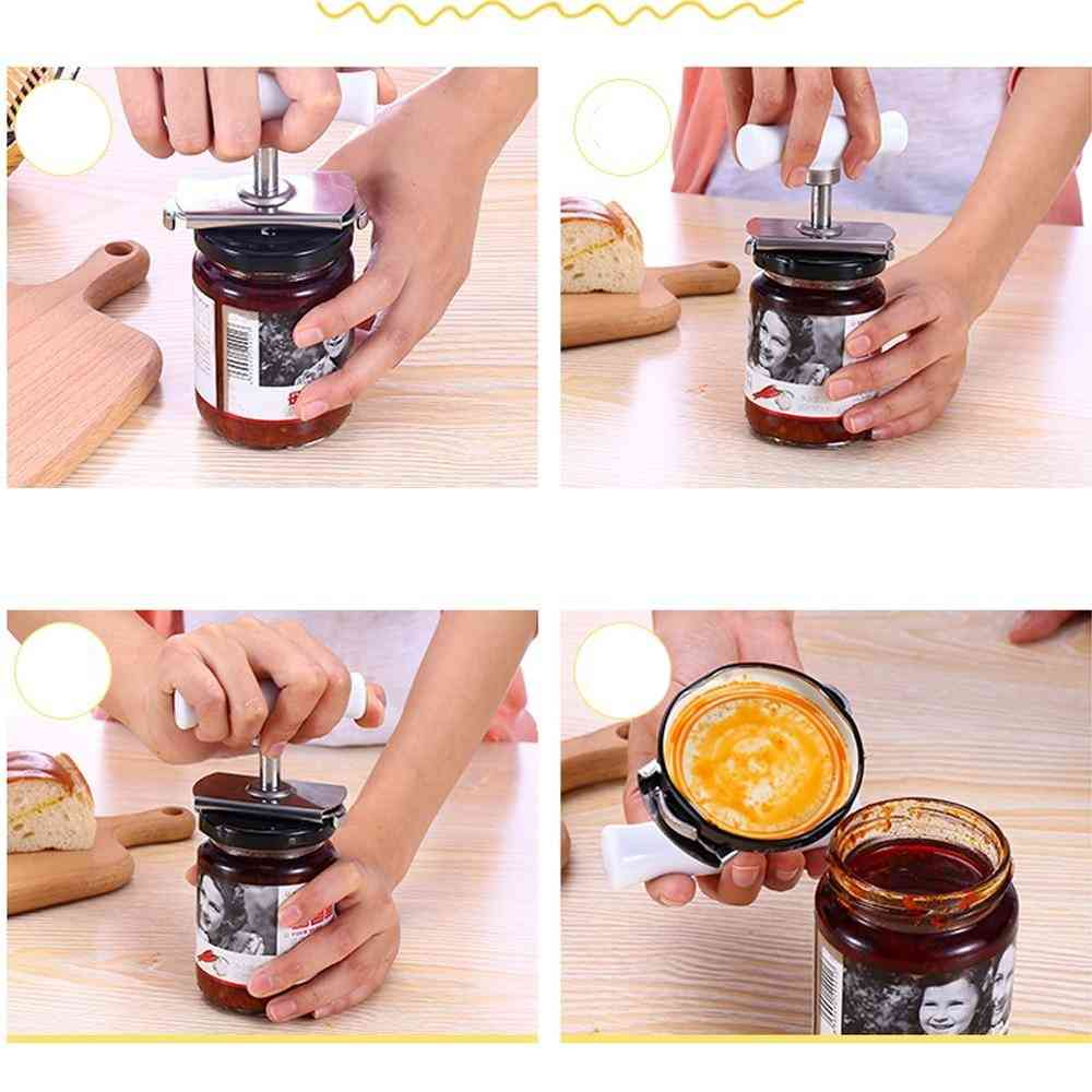 Multi-function Bottle Cap Opener Stainless Steel Lids Off Jar Opener Labor-saving Screw Can Opener For Kitchen Gadget