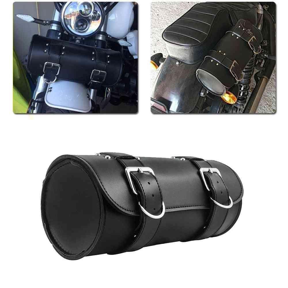 Leather Saddle Bag, Luggage Toolbag Case