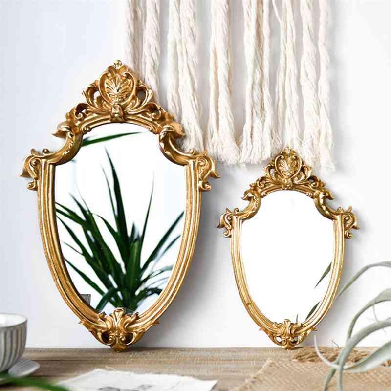 Vintage Mirror Exquisite Makeup Mirror Bathroom Wall Hanging Mirror