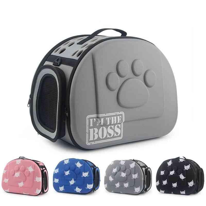 Cat Pattern Blue Dog Carrier Handbag