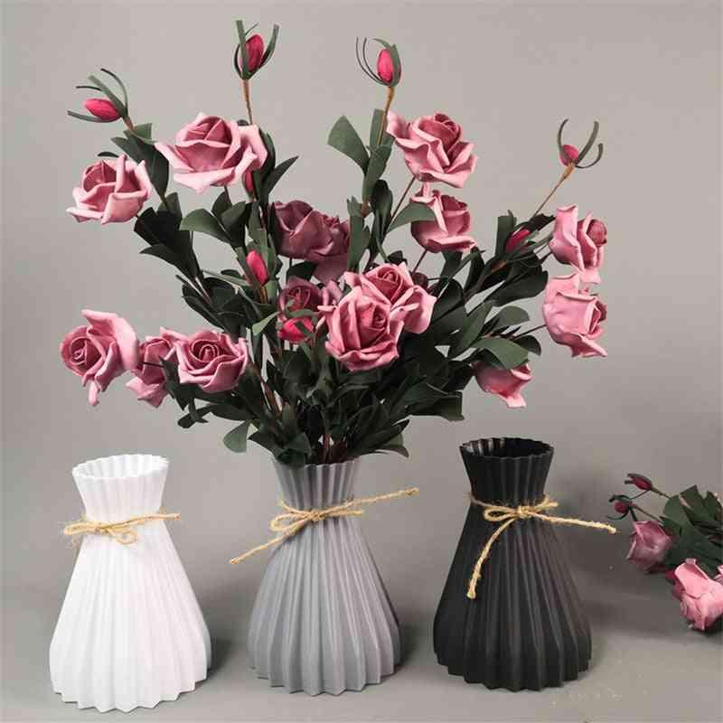 Modern Plastic Vases, Anti-ceramic Flower Vase