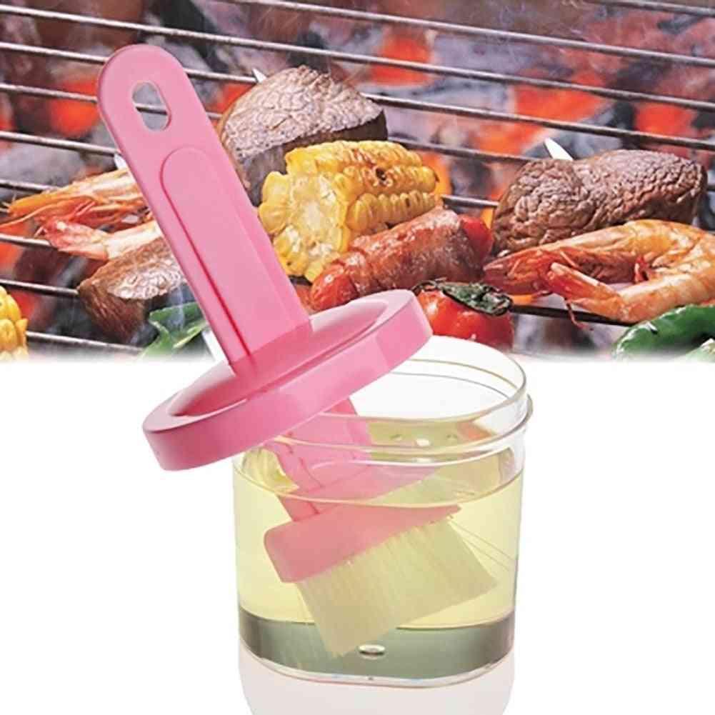 Silicone Bbq Brush Barbecue Cleaning Brush Baking Bread Cooking Oil Cream Tools Multipurpose Kitchen Utensil Tool Random