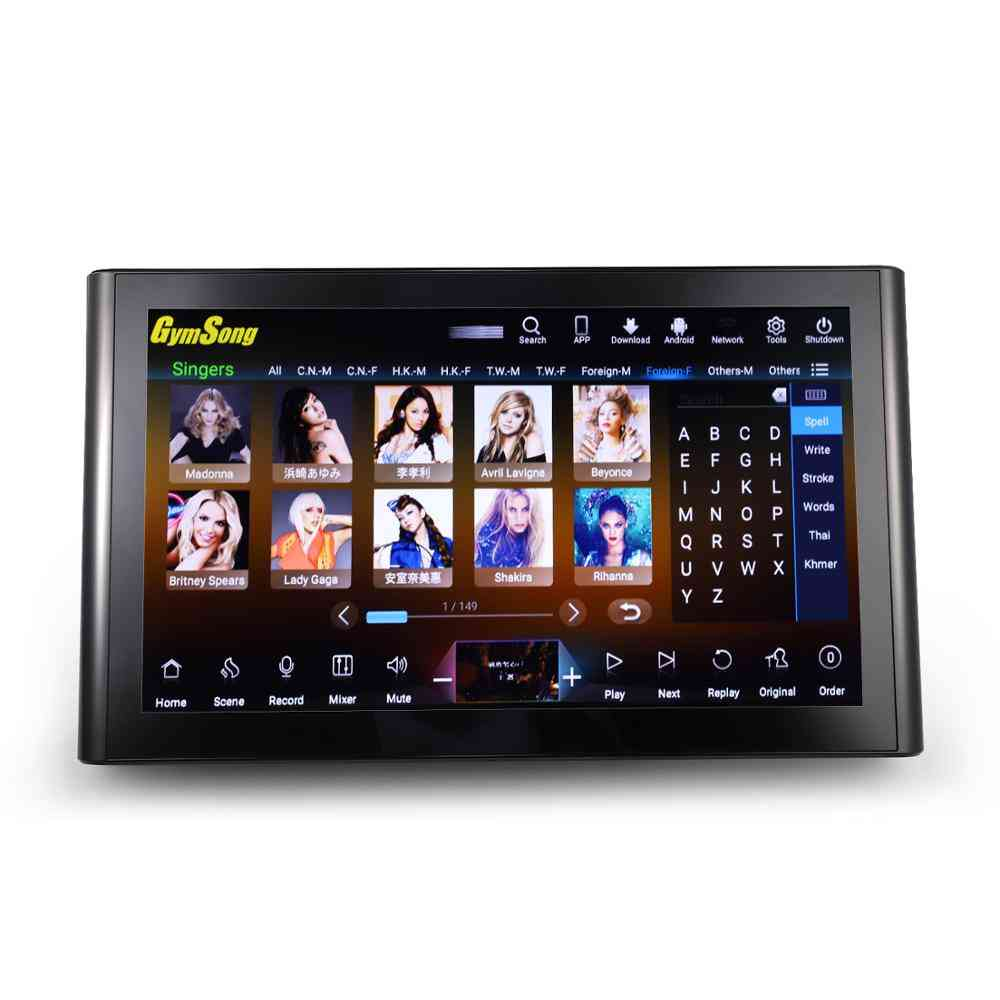 Touch Screen Karaoke Player With Hard Drive