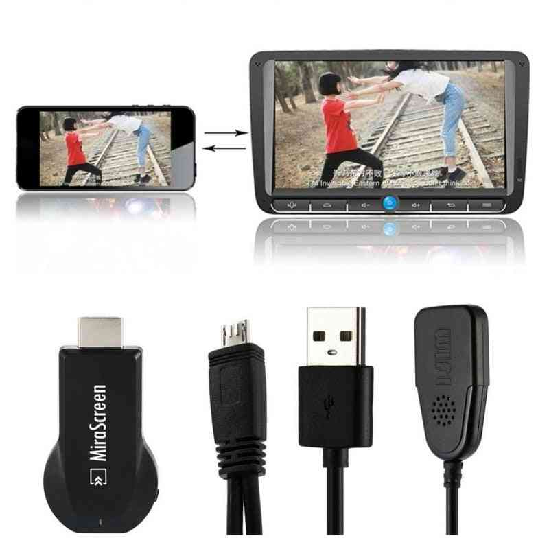 Tv Stick, Hdmi-compatible Hd Dongle, Wireless Wifi Receiver, Dlna, Airplay Miracast For Android