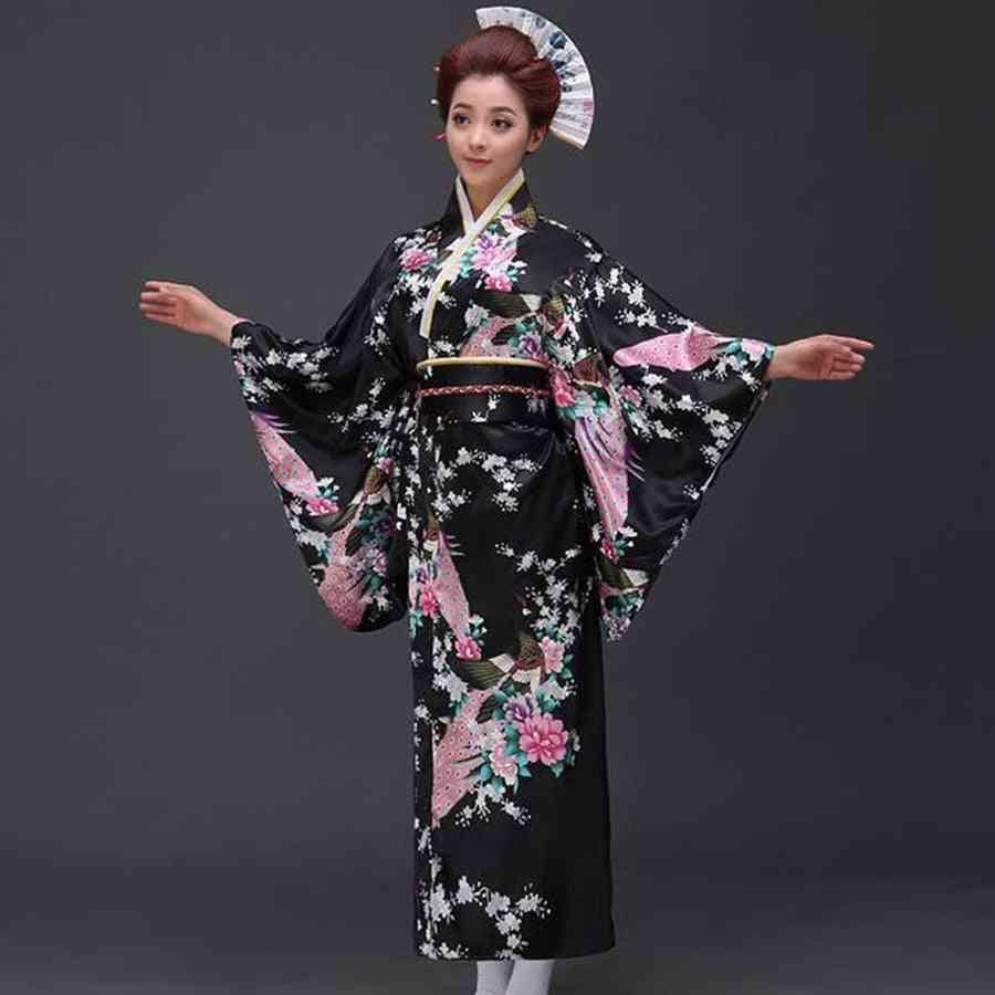 Women Sexy Kimono Yukata Evening Dress