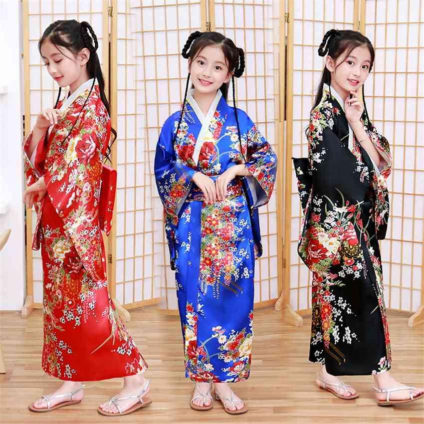 Children Kimono Japanese Style Yukata Dress