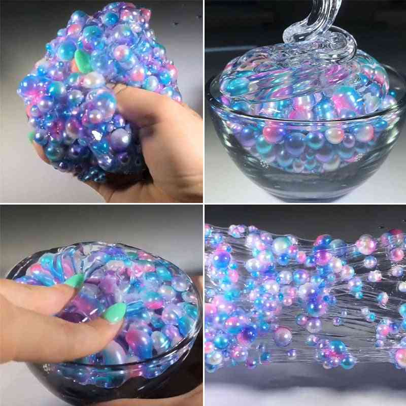 Crystal Jelly Fluffy Ball Slime Mud Addition Cotton Charms