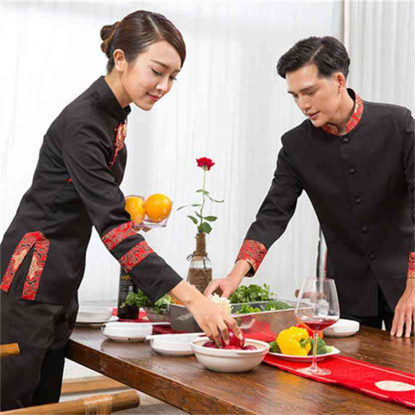 Long Sleeve Hot Pot Restaurant Waiter Catering