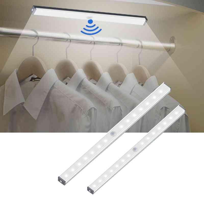 Led Usb Charging Cabinet Light Magnetic Strip Closet Light Night Lamp With Motion Sensor For Kitchen Bedroom Home Lighting
