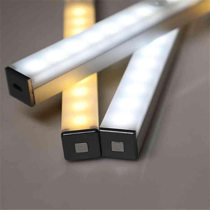 Leds Long Strip Under Cabinet Light Magnetic Closet Lights Motion Sensor Closet Lamp For Kitchen Wardrobe