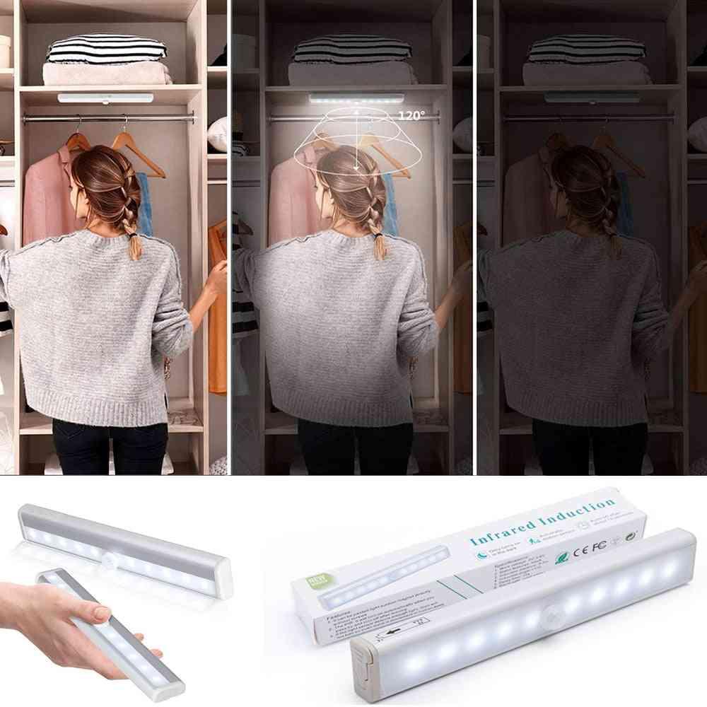 Wireless Lamp Battery Led Light With Motion Sensor Under Cabinet Light Kitchen Lighting For Home Bedroom Closet Colors