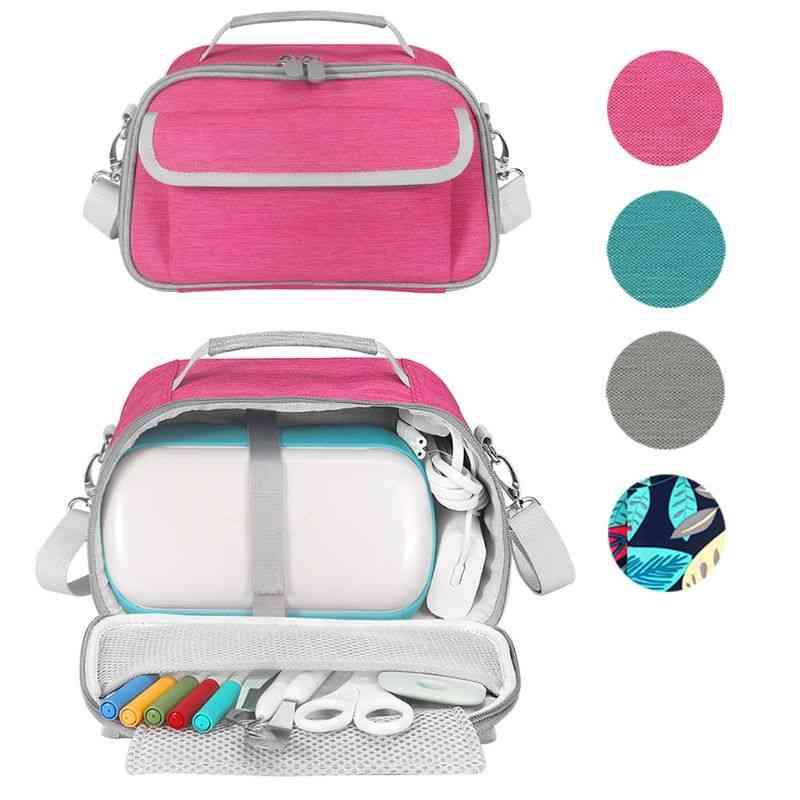 Portable Handbags Carry Case, Box Storage Shoulder Bag With Pocket