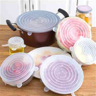 Food Silicone Cover, Universal Silicone Lids For Cookware