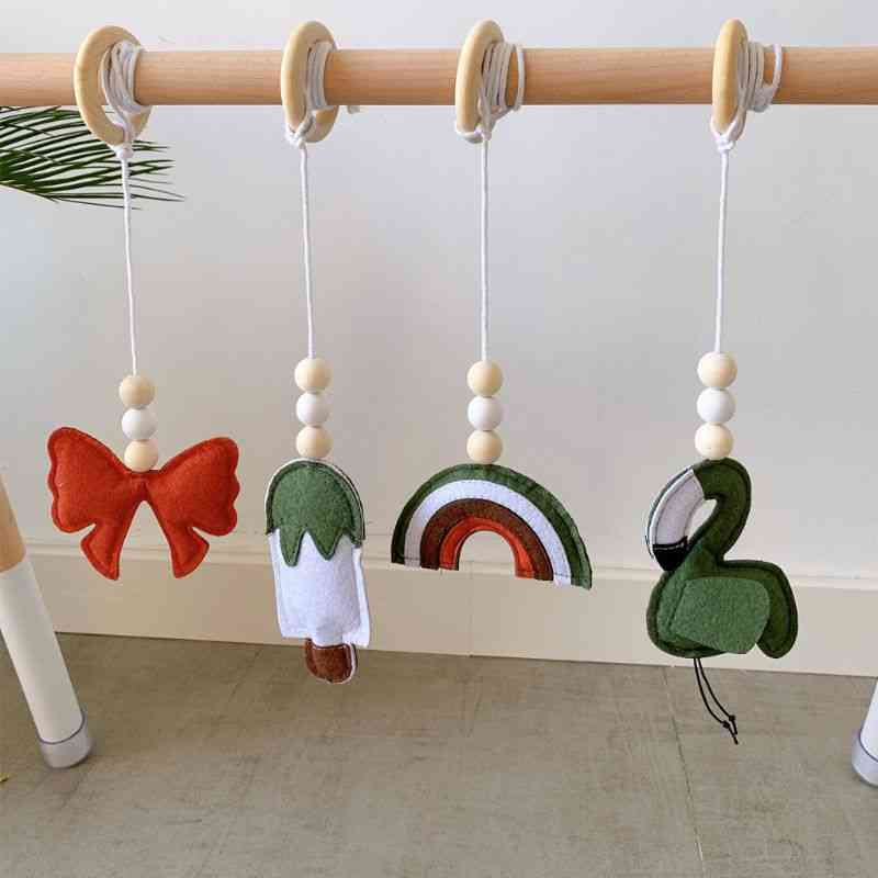 Solid Wood Fitness Rack, Pendant Baby Bed Strollers Hanging Ornaments