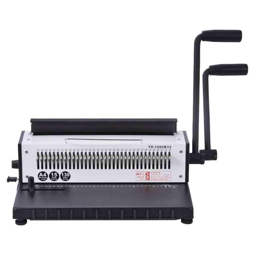 Manual Spiral Wire Binding Machine, Metal 34 Punching Hole Paper Binder