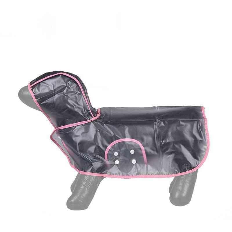 Dog Raincoat-pink- (medium)