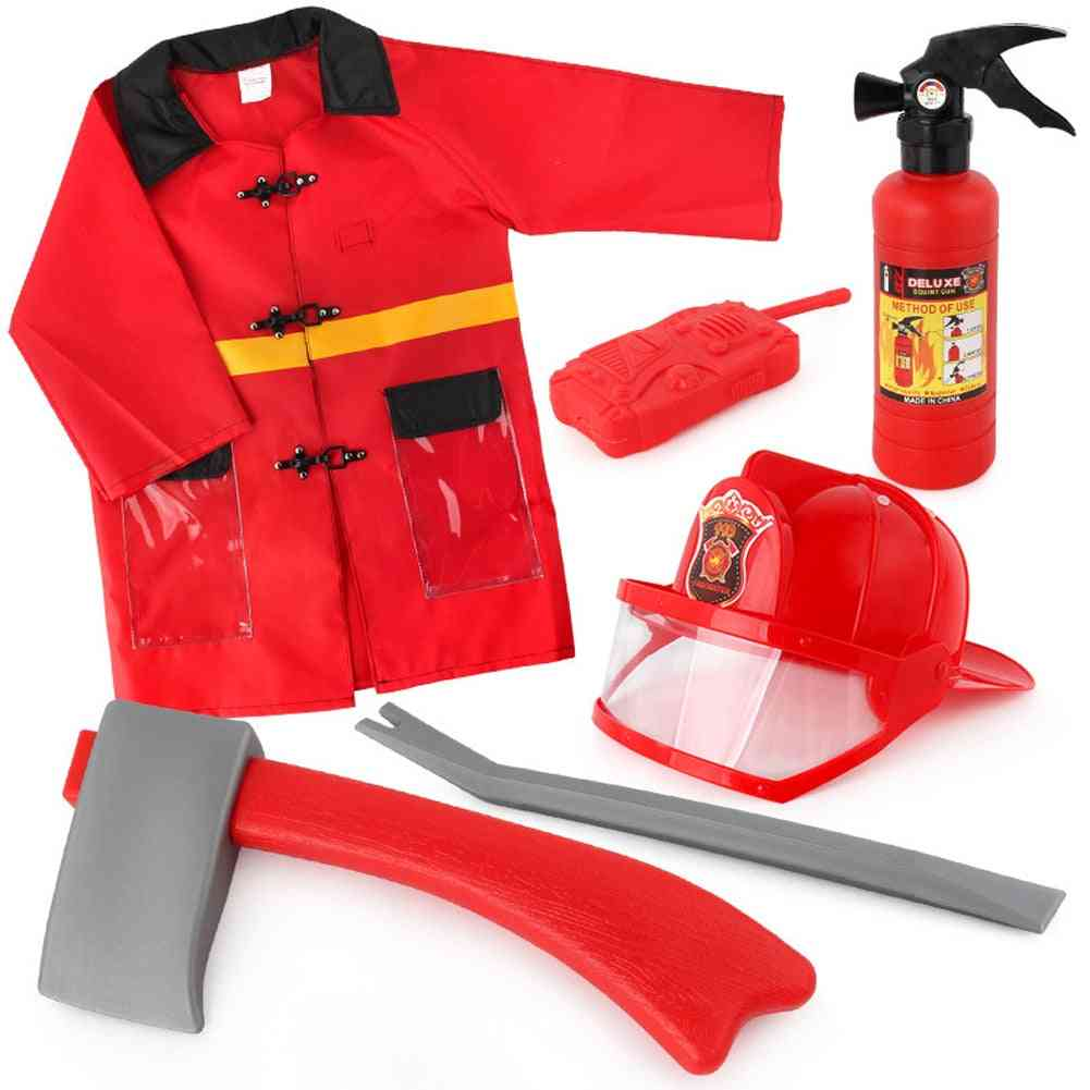 Child Firefighter Costumes, 8pcs Fire