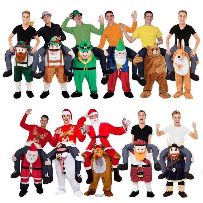 Novelty Ride On Me Mascot Costumes Carry Back Fun Pants