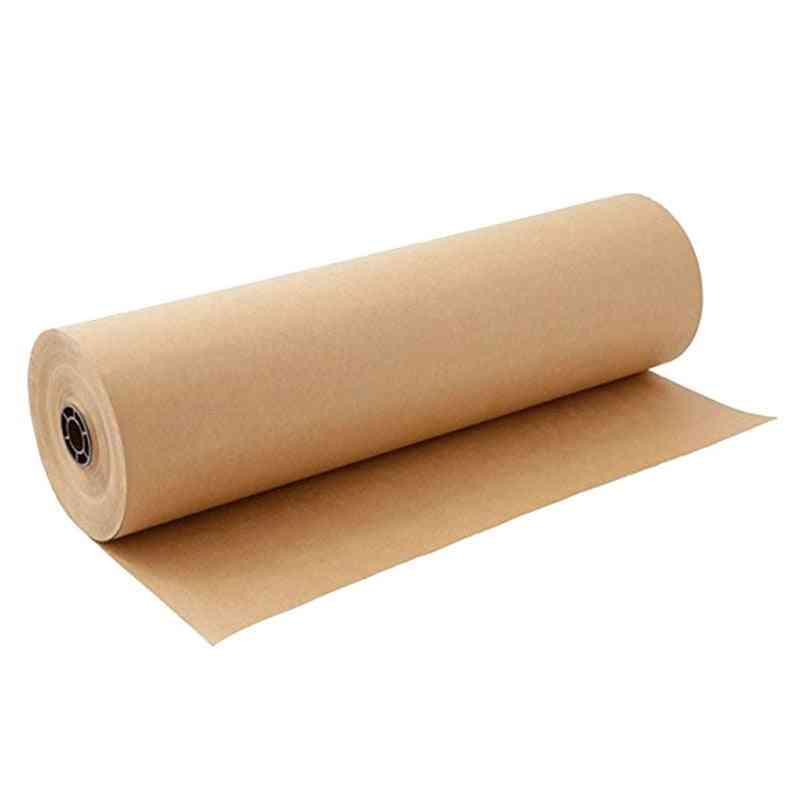 Brown Kraft Wrapping Paper Roll For Wedding Birthday Party Wrapping Parcel