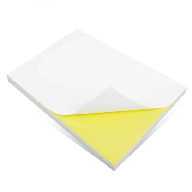 Sheet Label Glossy / Matte Self-adhesive Label Sticker For Laser / Inkjet Printer