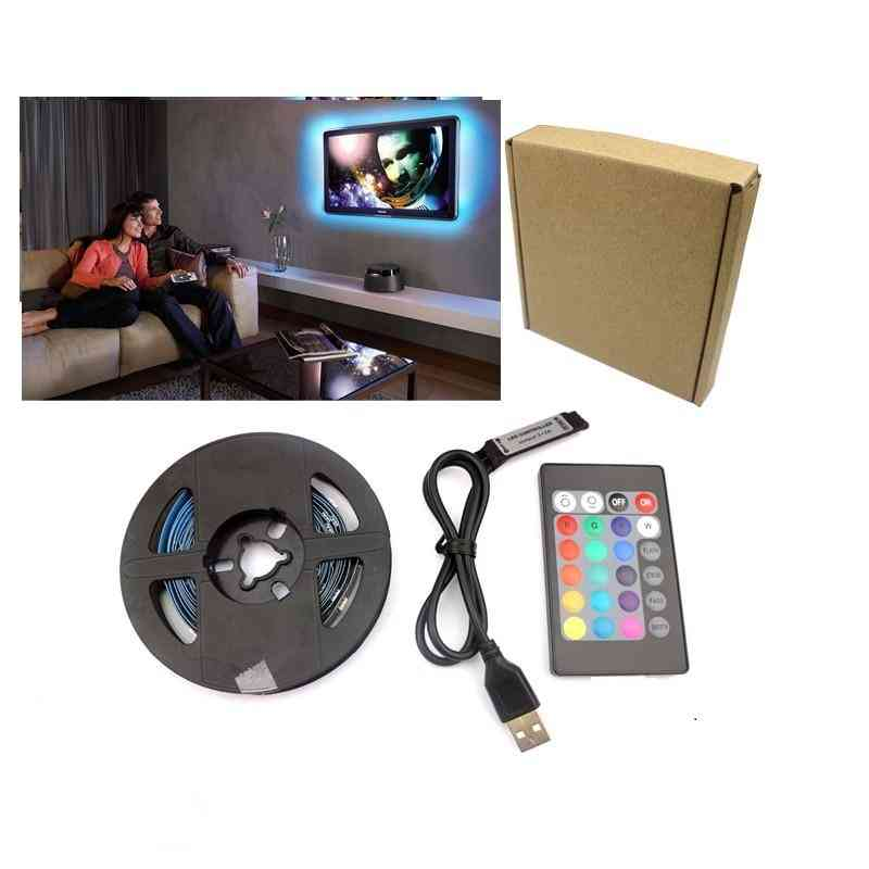 Usb Rgb Led Strip Light , Flexible Rgb Stripe Color Changing Tape For Display Screen