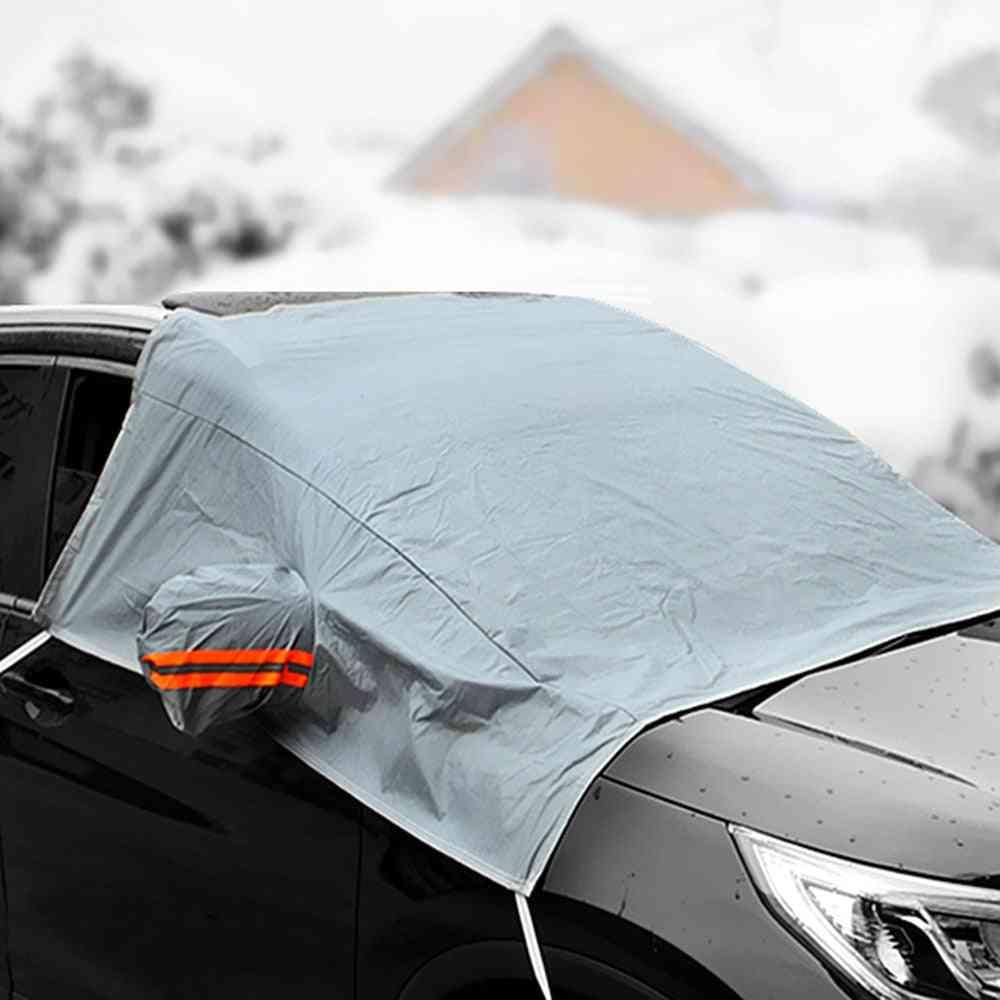1pcs Unversal Winter Car Covers Waterproof Dustproof Snow Ice Rain Anti-frost Protection Guard Waterproof Auto Car Accessries